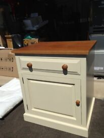 Cream Painted Storage Cupboard with Drawer