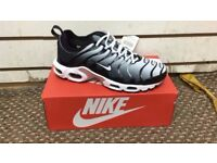 Nike Tn Ultra Black/White all sizes, Free delivery