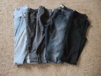 Skinny Jeans size 8 four pairs good condition various colours only £4