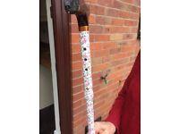Adjustable floral walking stick