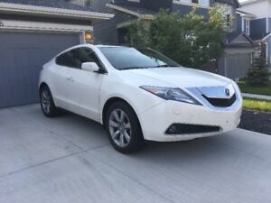 2010 Acura ZDX Tech SUV, Crossover, white ext w/ amber leather