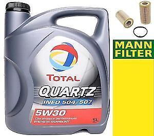 TOTAL 5W30 507 OIL 5LITRE AND MANN FILTER - SCARBOROUGH