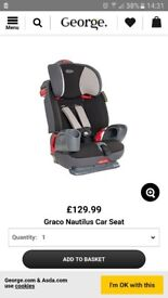 Graco nautilus carseat 1-2-3 9months/11 years