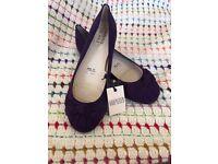 Purple Flat Ballet Shoes Pumps Size 7