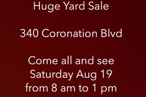 GARAGE SALE 340 CORONATION BLVD