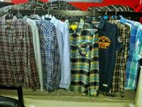 Small size shirts from NEXT, SUPERDRY, JACK AND JONES
