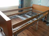 hospital profiling bed with side rails