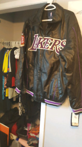 Lakers Mens Leather Jacket $100 would make a Great Gift  (NEW)