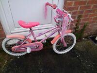 Girls 12 inch Bike With Stabilizers