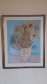 For Sale: Framed Art Print (Second Hand) - Van Gogh, Sunflowers