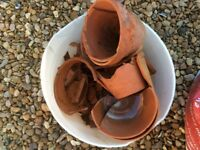 Terracotta pot crocs for Garedeners / Garden free to collector