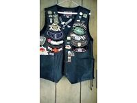 Looking for some one to stitch embroidery patches on to a leather waistcoat. 8 or 9 in total...
