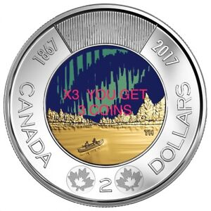 2017 Canada Coins Glow In The Dark Toonies Worlds First