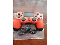 PS4 Magma Red Sony Official controller with headset