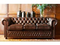 WANTED leather Chesterfield sofa chairs
