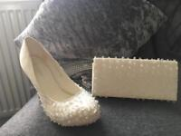 Ivory shoes and bag size 5