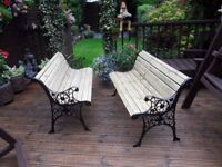 Garden benches/Cast iron with wooden slats