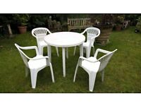 GARDEN PATIO SET GARDEN TABLE AND 4 CHAIRS