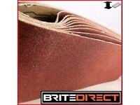 10x Sanding Belt 75x533 Grit 36 - 100 belt sander sand paper endless Brite Direct Ltd