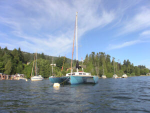 31′Kismit Trimaran, Private Mooring, Ganges (Salt Spring Island)