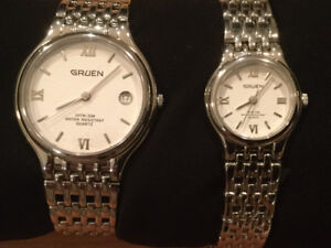GRUEN MATCHING HIS AND HER WATCHES