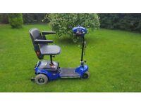 Shoprider Wispa Folding Car Boot Mobility Scooter blue