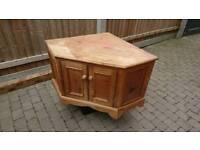 Wooden tv stand - corner unit