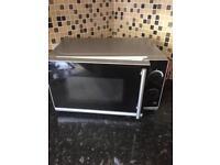 Black/silver microwave