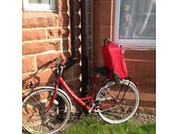 Red and silver ladies bike stolen from Troon on 16th August 2017