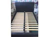 Leather bed frame 4'6 x 6'3