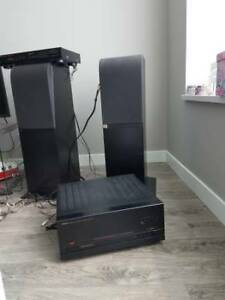 High end speakers + Power Amp(Receiver)