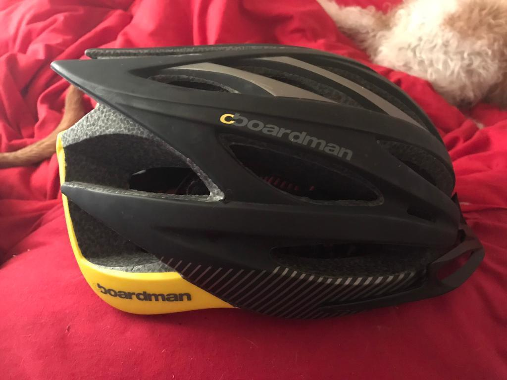 CBoardman helmet blackyellowin Bosham, West SussexGumtree - CBoardman helmet new condition as too big for my head 56 61cm size any questions please ask