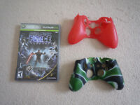 Xbox 360: game and 2 x controller skins