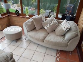 DFS sofas and pouffe