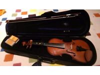 ** 1/2 size Violin, excellent condition** with case, rosin and starter book