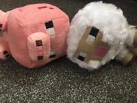 Mine craft cuddly toys