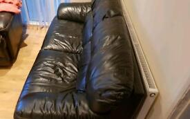 Leather black sofa. Only £10