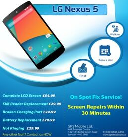 Same day LG G4 / G3 /G2 Nexus 5/4 Complete LCD Screen Digitiser Glass Repair Replacement Service