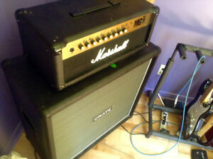 Marshall MG 100FX avec cab crate