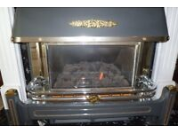 BAXI BERMUNDA GAS FIRE AND SURROUND (OR WILL SEPARATE) - WILL CONSIDER ANY SENSIBLE OFFER