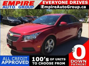 2014 CHEVROLET CRUZE DIESEL * 1 OWNER * LEATHER * REAR CAM * BLU