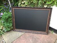 Brown chalkboard Menu gold trimmed brown chalkboard Menu blackboard caffe