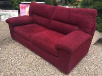 FREE DELIVERY RED M&S FABRIC SOFA