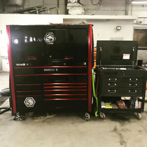 Matco 6S tool box with power hutch