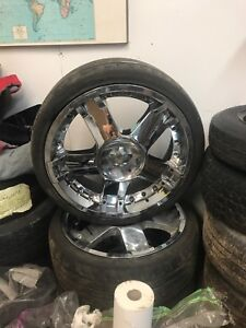 """Low profile tires and 20"""" rims"""