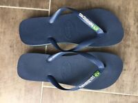 Havianas Brasil Flip Flops Size UK 9/10 (EU 43/44) - Blue - Worn once only.