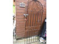 180cm x 78cm metal garden gate