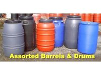 Steel/ Plastic barrels, All Sizes, All Colours, For Shipping, Storage New and Used! CHEAP