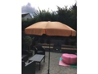 Lovely garden parasol can be tilted fully operational