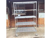 Industrial quality racking shelving on wheels